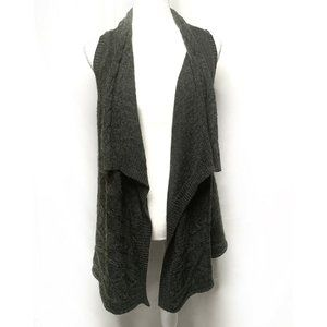 Madison Open Front Sleeves Rib Duster Cardigan m